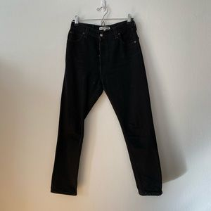 Black Re/Done High Rise Ankle Crops